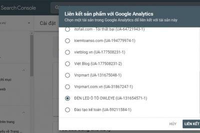 Tại sao nên liên kết tài khoản Google Analytics với Google Search Console?