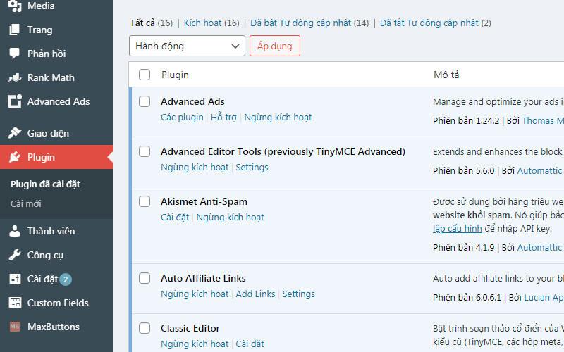 Hoc Viet Blog 2 Quan Tri Website WordPress 9